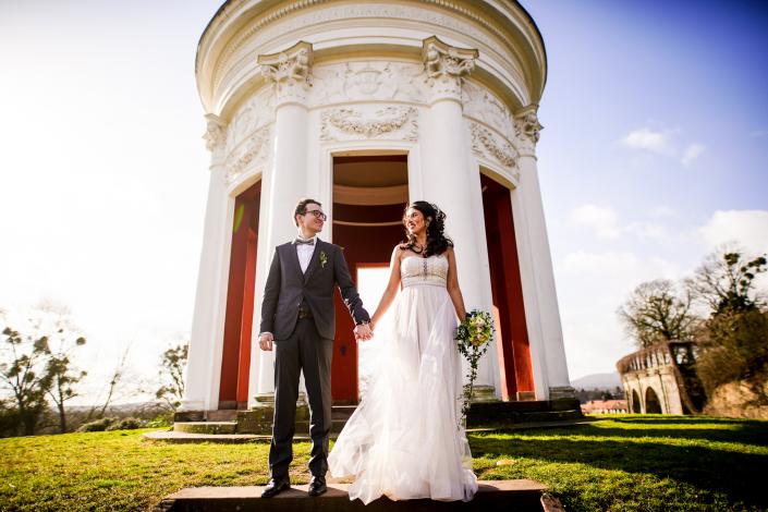 Brautpaar in Kassel Innenstadt