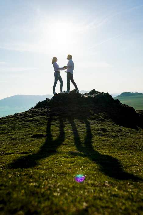 Engagement auf dem Berg Kassel